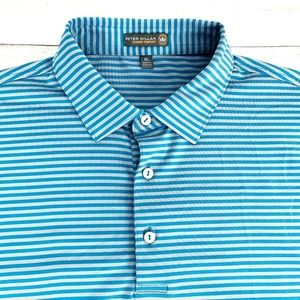 Peter Millar Men's Summer Comfort Golf Polo Blue